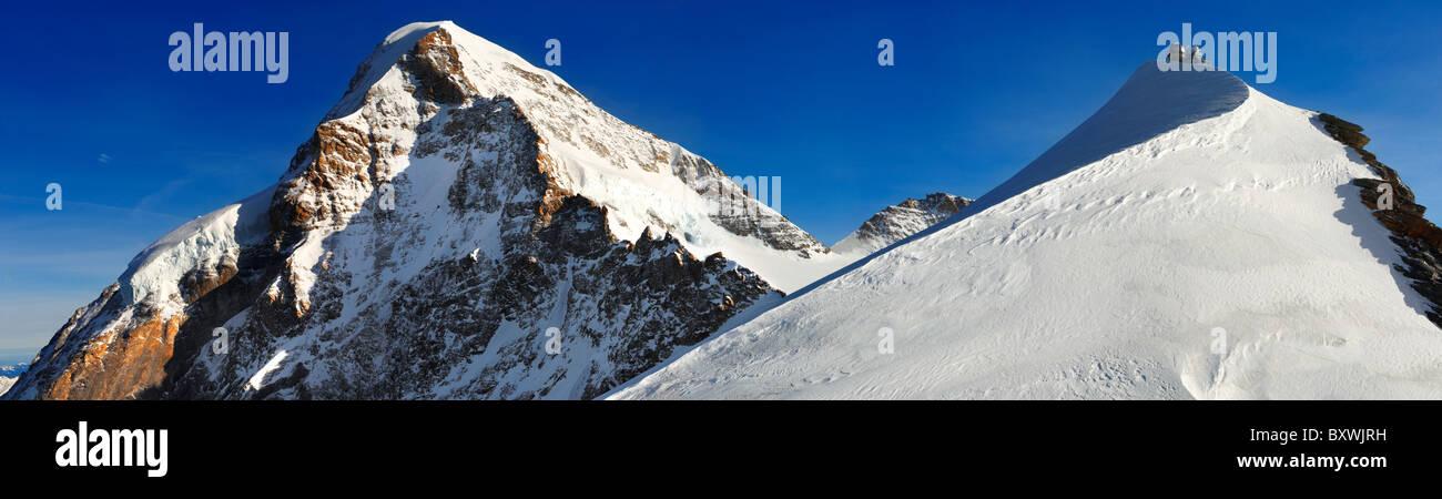Jungrfrau Top d'Europa osservatorio Sphinx, altopiano Jungfrau alpi svizzere, Svizzera. Immagini Stock