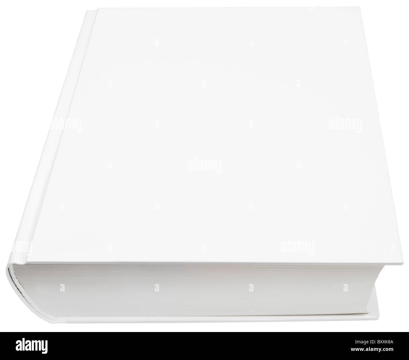 Immagine della schermata bianca vuota hard copertina del libro isolato con tracciato di ritaglio Immagini Stock
