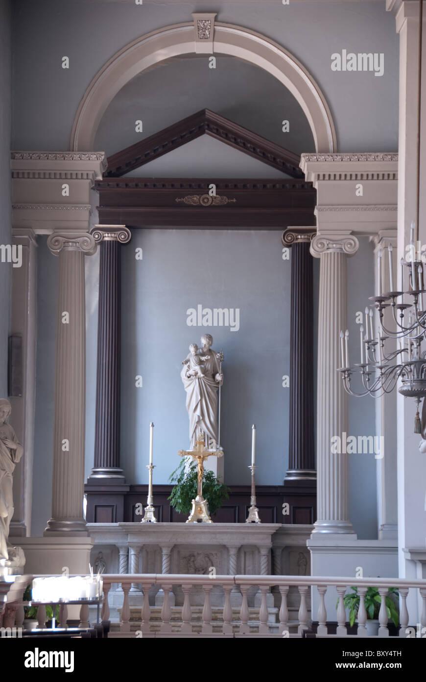 Vecchia Cattedrale_Basilica di Saint Louis, il Re di Francia; Arte Religiosa Immagini Stock