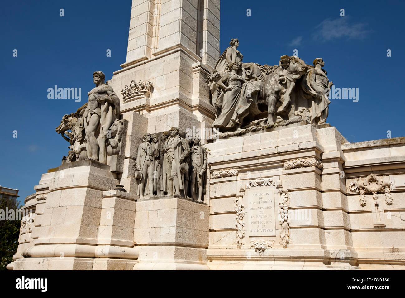Monumento a la Constitución de 1812 Cádiz Andalucía España Monumento alla Costituzione del 1812 Immagini Stock