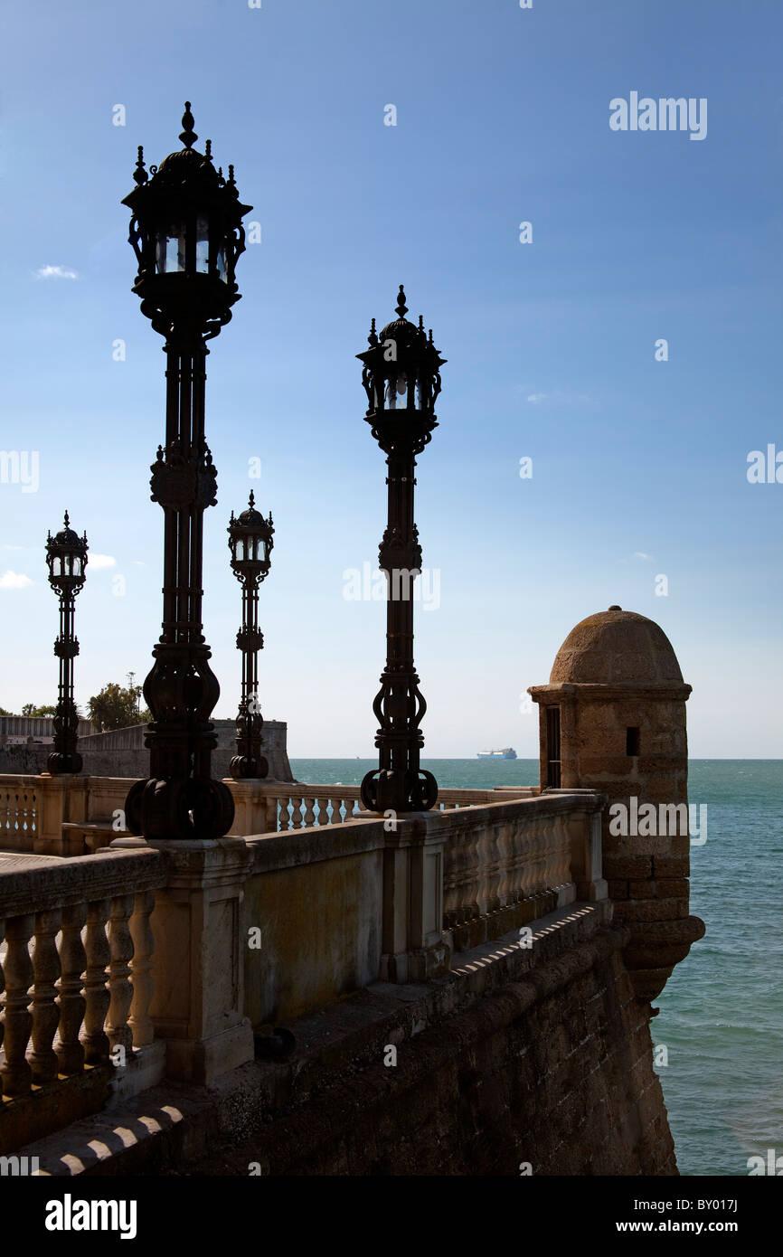 Monumento Baluarte de Candelaria Cádiz Andalucía España monumento Andalusia Spagna Immagini Stock