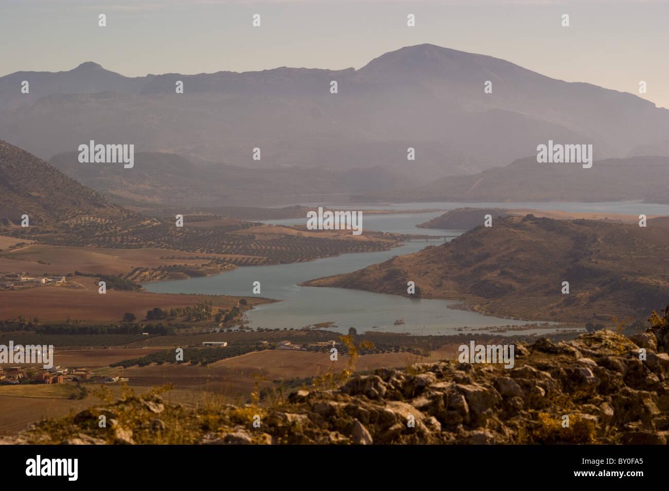Vista dal castello di Teba Andalusia Malaga provincia SPAGNA Immagini Stock