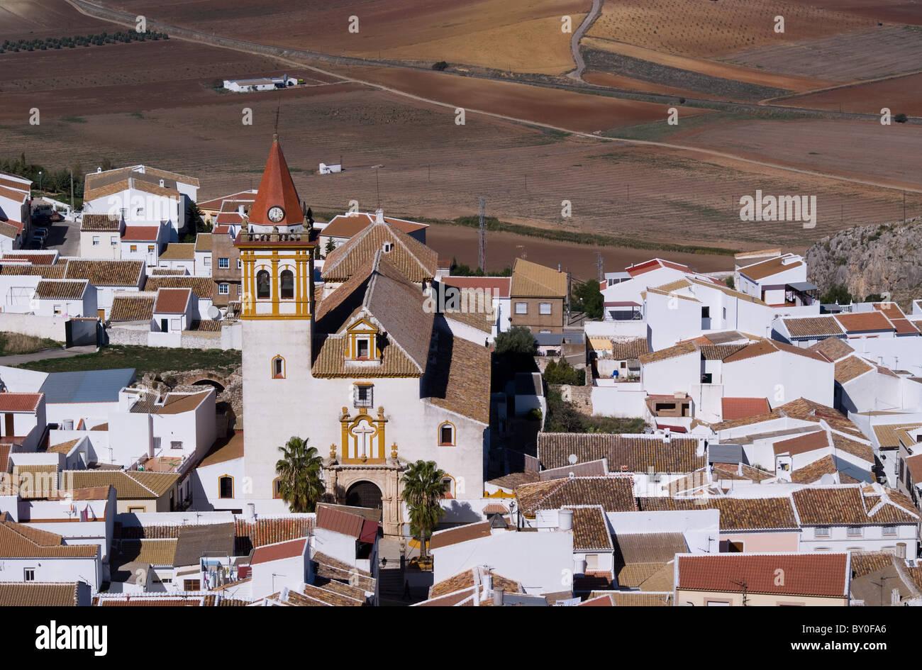 Vista dal castello di Teba Andalusia Spagna europa Immagini Stock