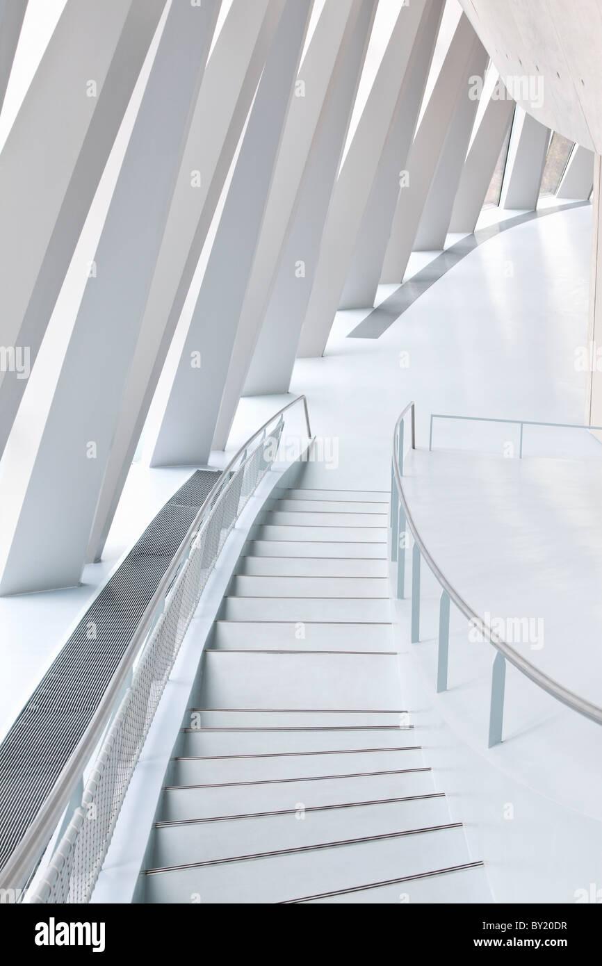 La germania,Stuttgart, Museo della Mercedes-Benz, scala grafica Immagini Stock