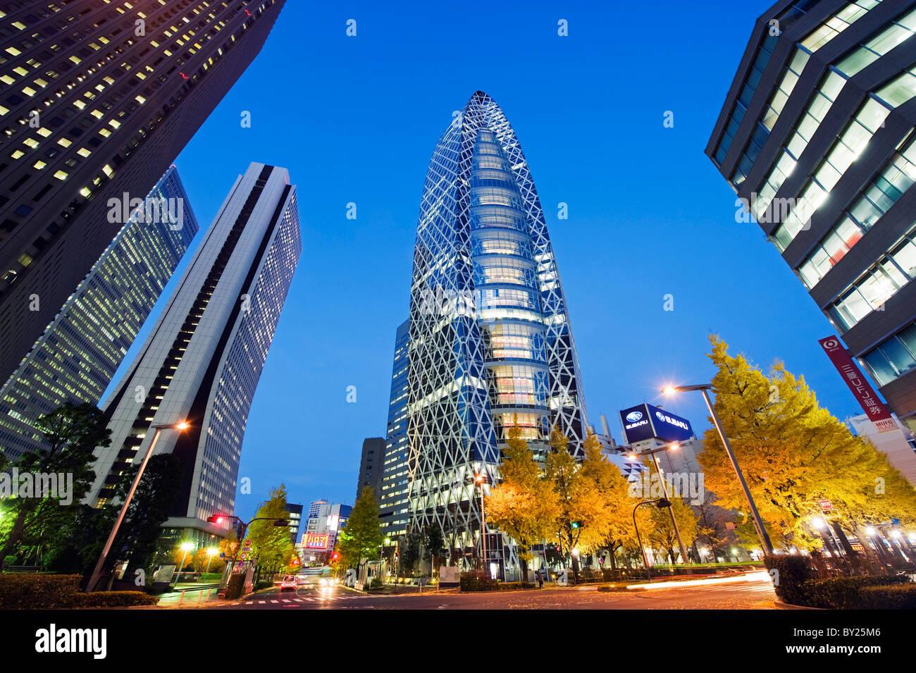 Asia, Giappone, Tokyo Shinjuku, Tokyo Mode Gakuen Cocoon Tower, Design edificio scolastico Foto Stock
