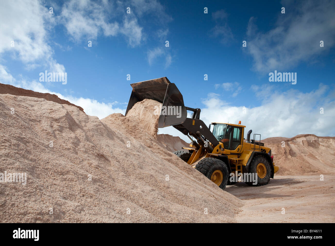 Winsford Rock Miniera di Sale Cheshire Regno Unito - sale di pietra per la costruzione di strade in inverno Immagini Stock