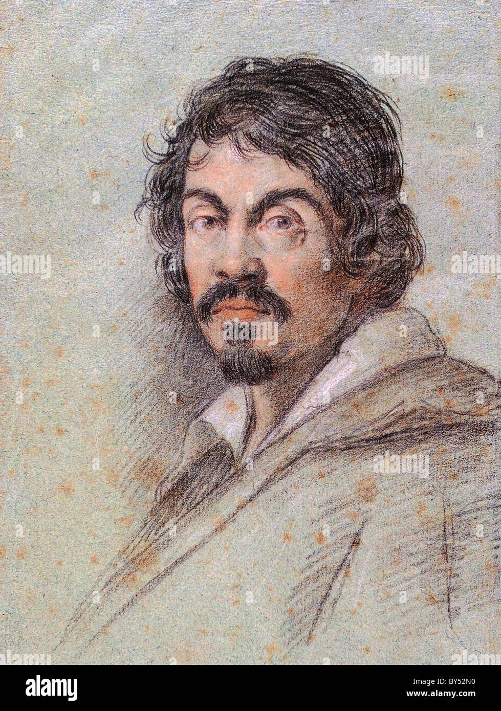 Caravaggio, Michelangelo Merisi da Caravaggio (29 settembre 1571 - 18 luglio 1610) era un artista italiano. Immagini Stock