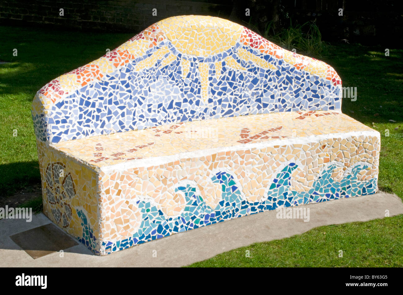 Mosaic Bench Immagini Mosaic Bench Fotos Stock Alamy