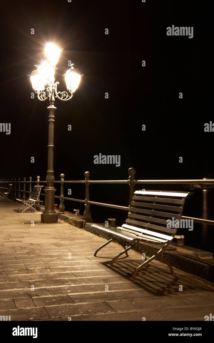 Quay di notte Immagini Stock