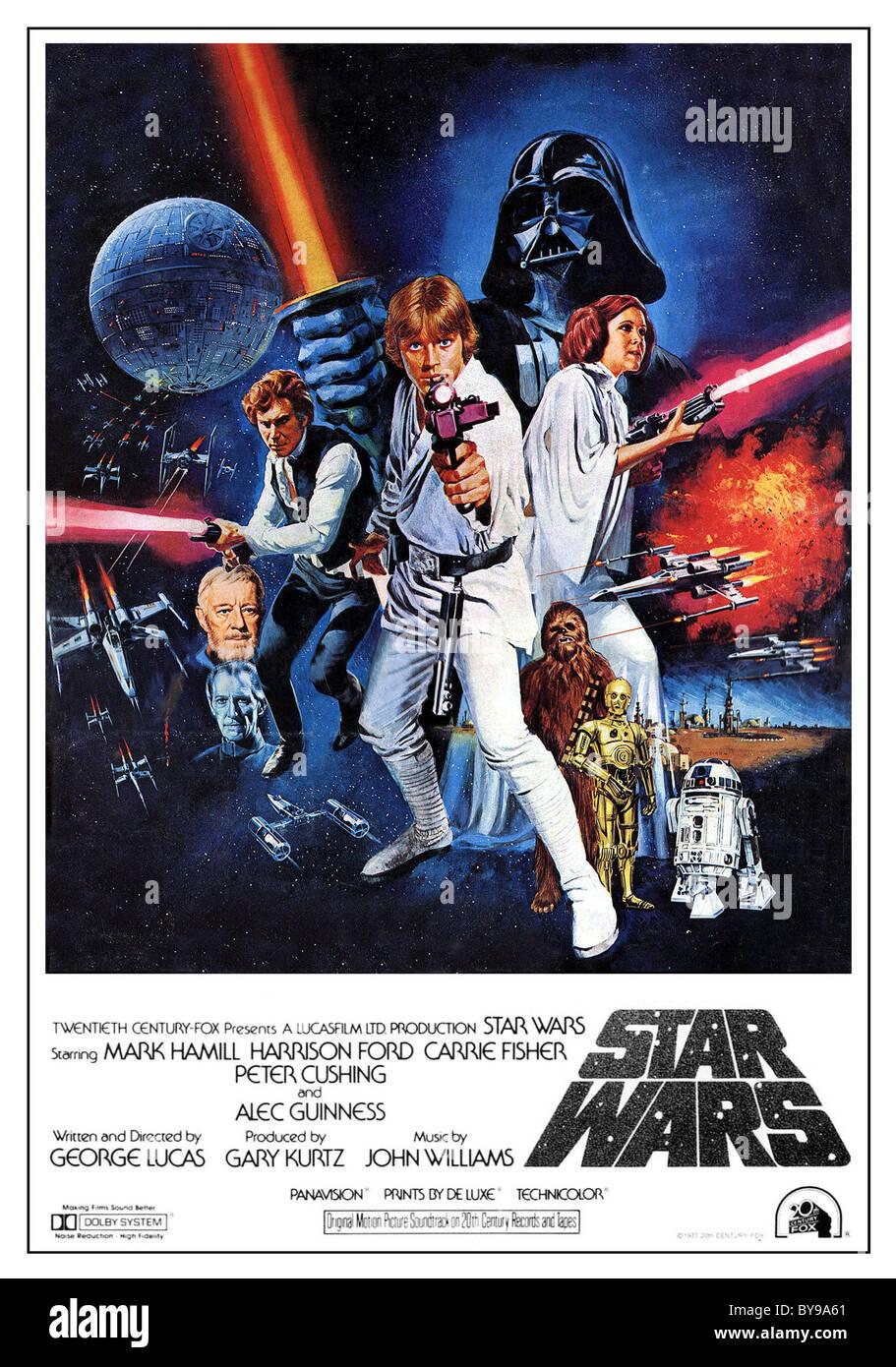 Star Wars Anno : 1977 - USA Direttore : George Lucas Affiche (USA) Immagini Stock