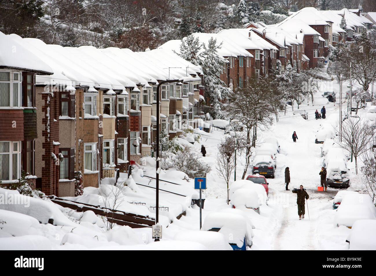 Forti nevicate Immagini Stock