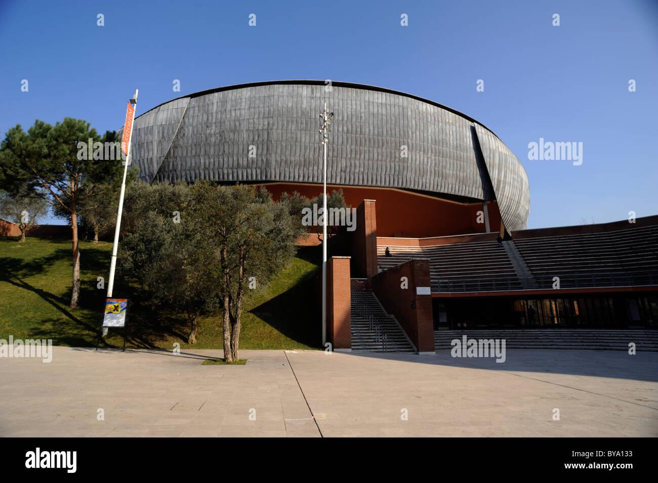 Italia, Roma, Auditorium parco della musica, l'architetto Renzo Piano Foto Stock