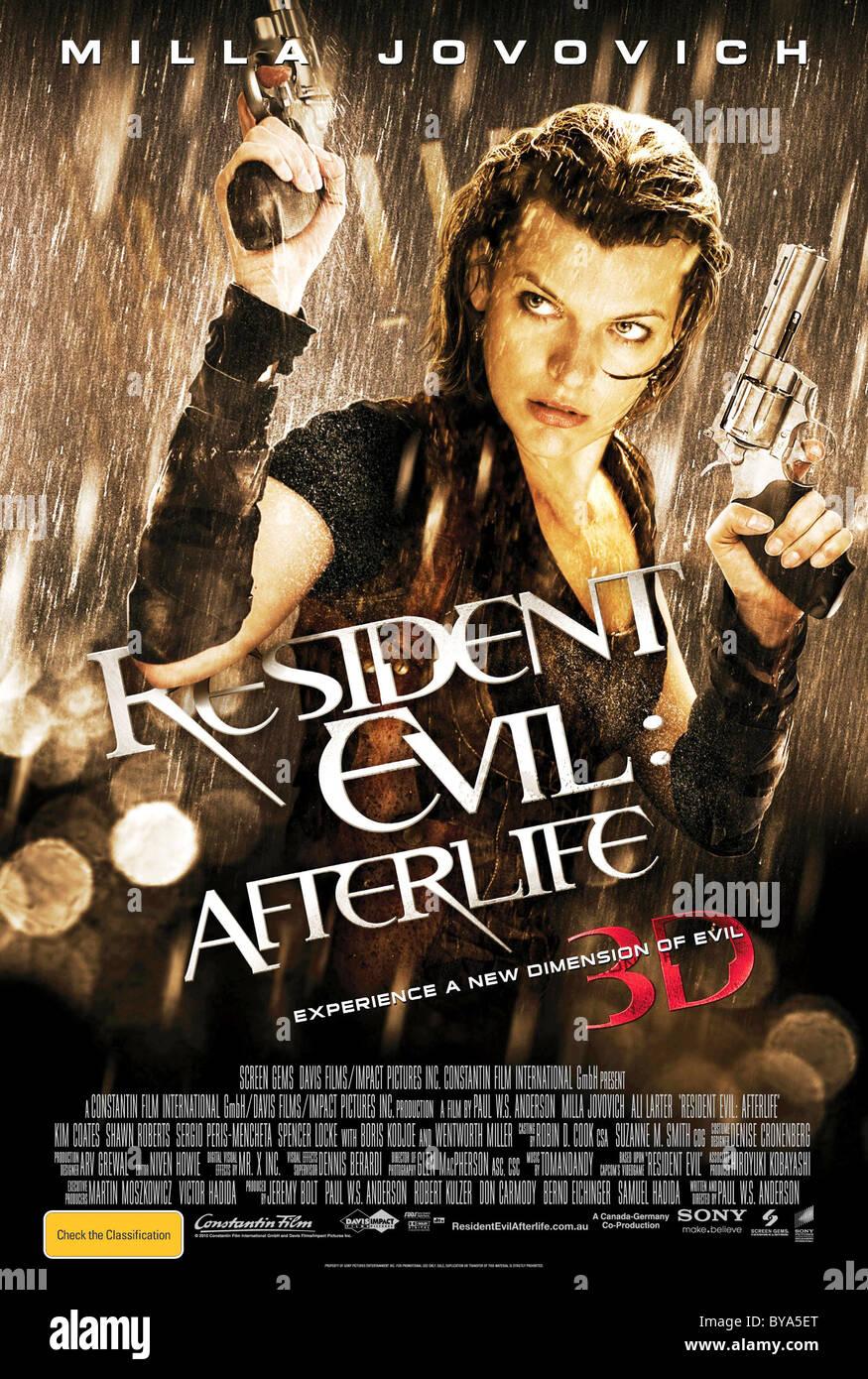 Resident Evil : Afterlife Anno : 2010 USA / UK Direttore : Paul W.S. Anderson Milla Jovovich film poster (USA) Immagini Stock