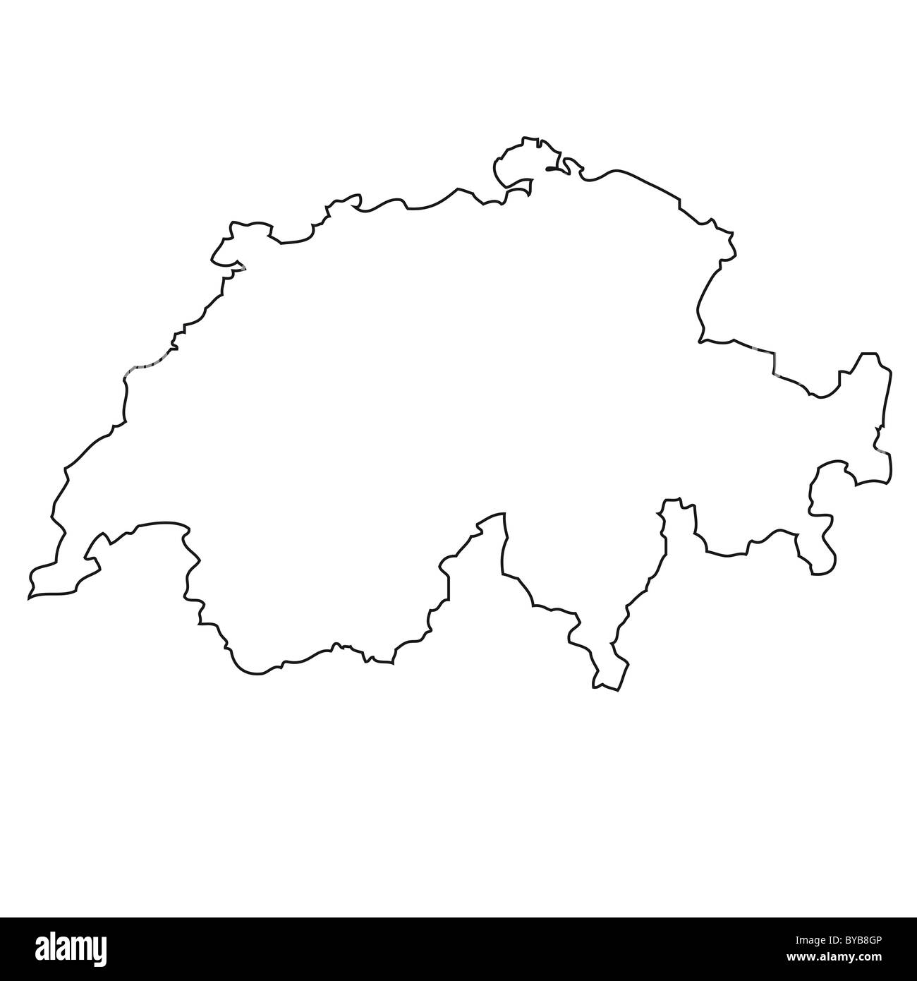 La Svizzera Cartina.Contorno Cartina Della Svizzera Foto Stock Alamy