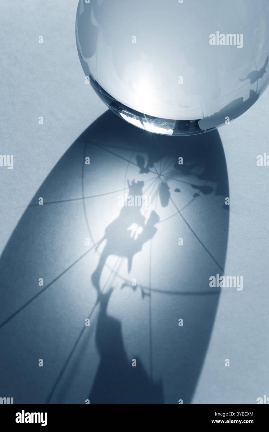 Pianeta Terra,globo trasparente per lo sfondo Immagini Stock