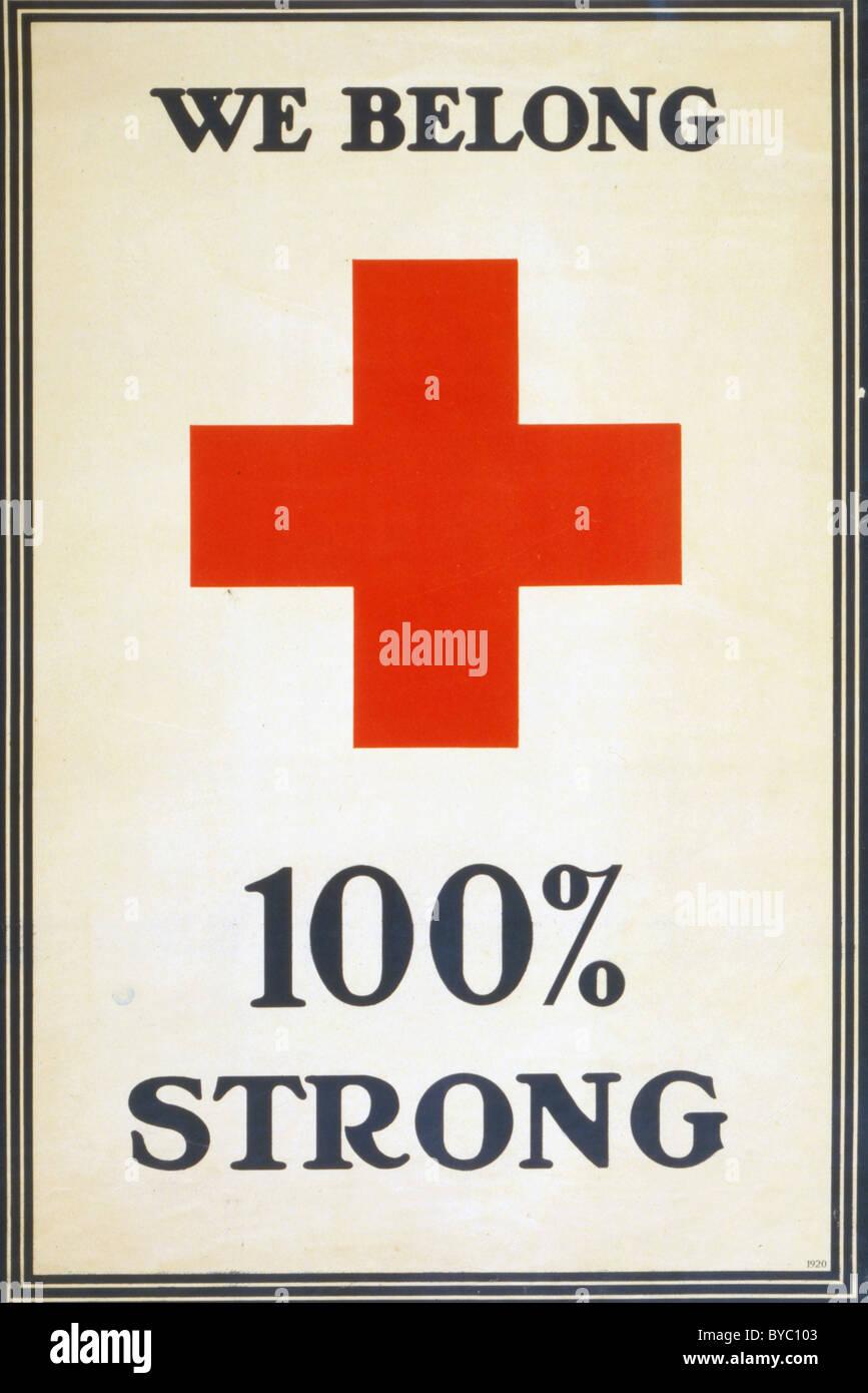 Noi apparteniamo 100% forte ww1 poster Immagini Stock