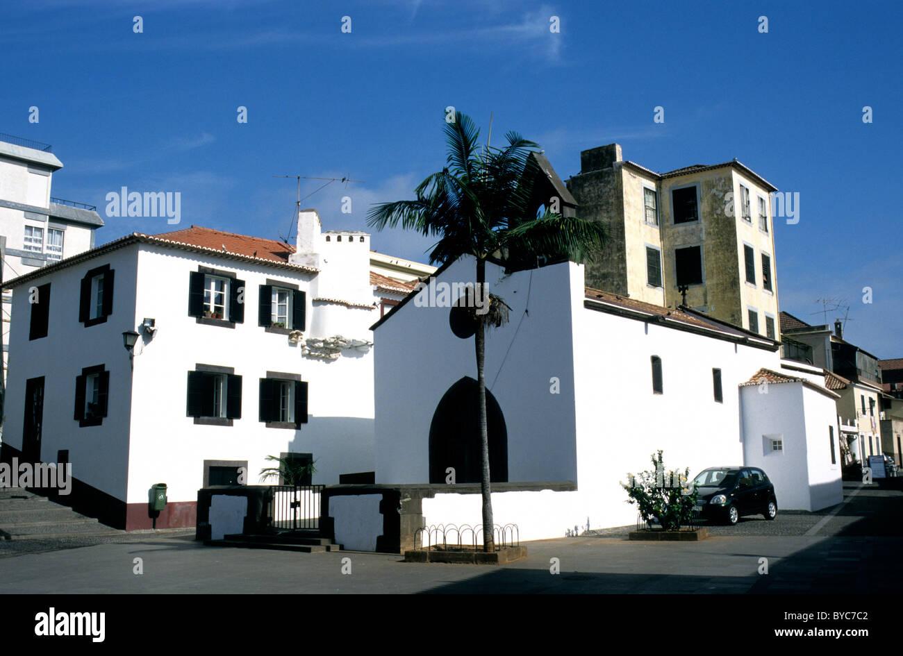Il piccolo 16esimo secolo Capela do Corpo Santo in Rua de Santa Maria in Funchal Zona Velha Immagini Stock
