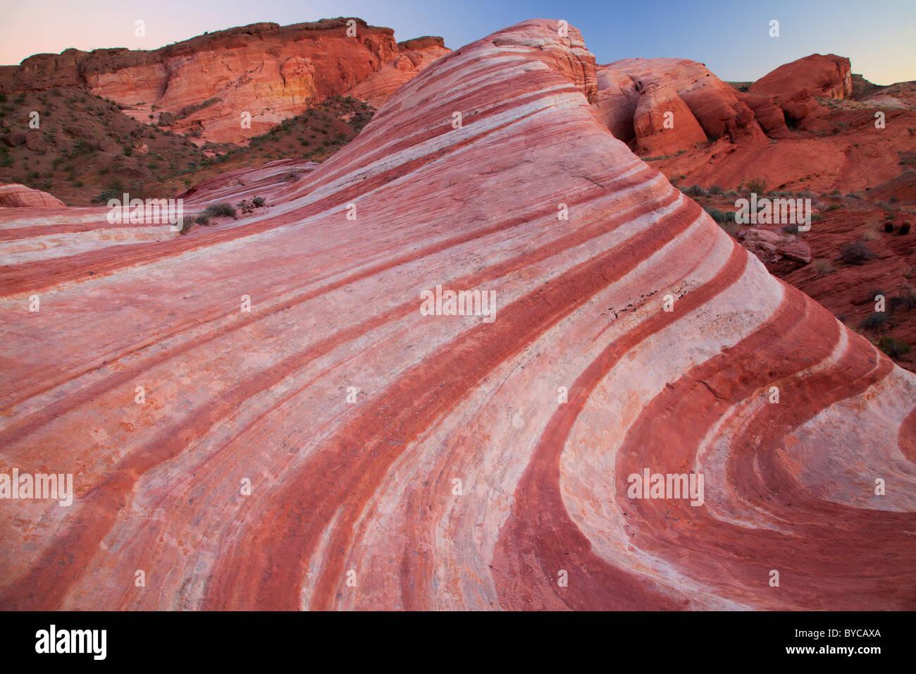 La Valle del Fuoco del Parco Statale di Deserto Mojave, Nevada Immagini Stock