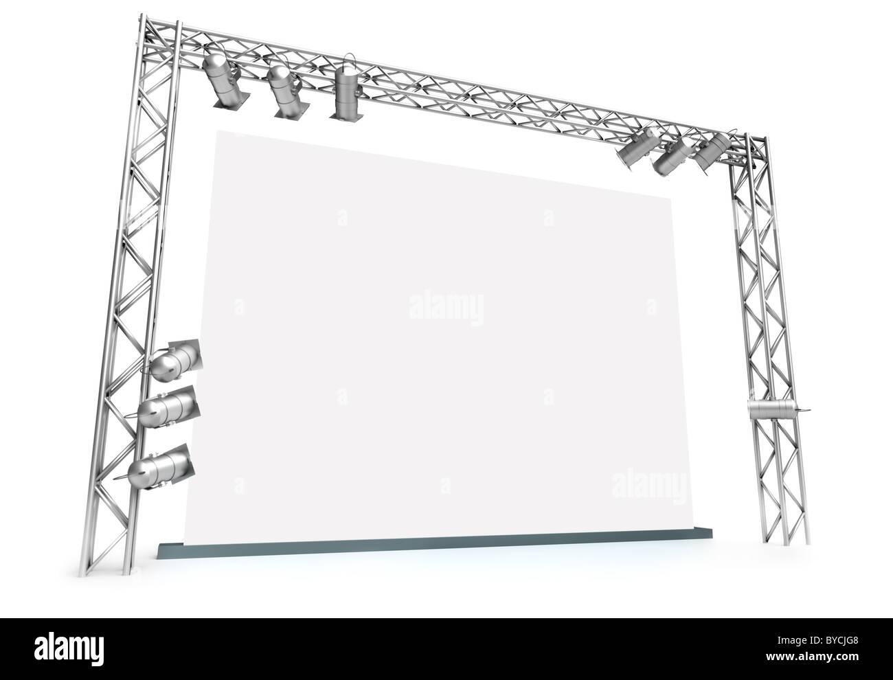 Grande schermo Immagini Stock