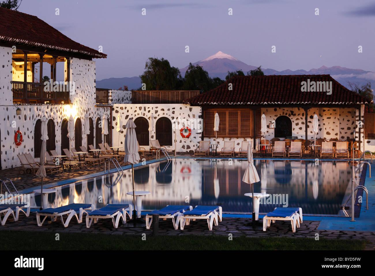 Piscina, Hotel Parador de Turismo Conde de La Gomera, San Sebatián de La Gomera, isole Canarie, Spagna, Europa Immagini Stock