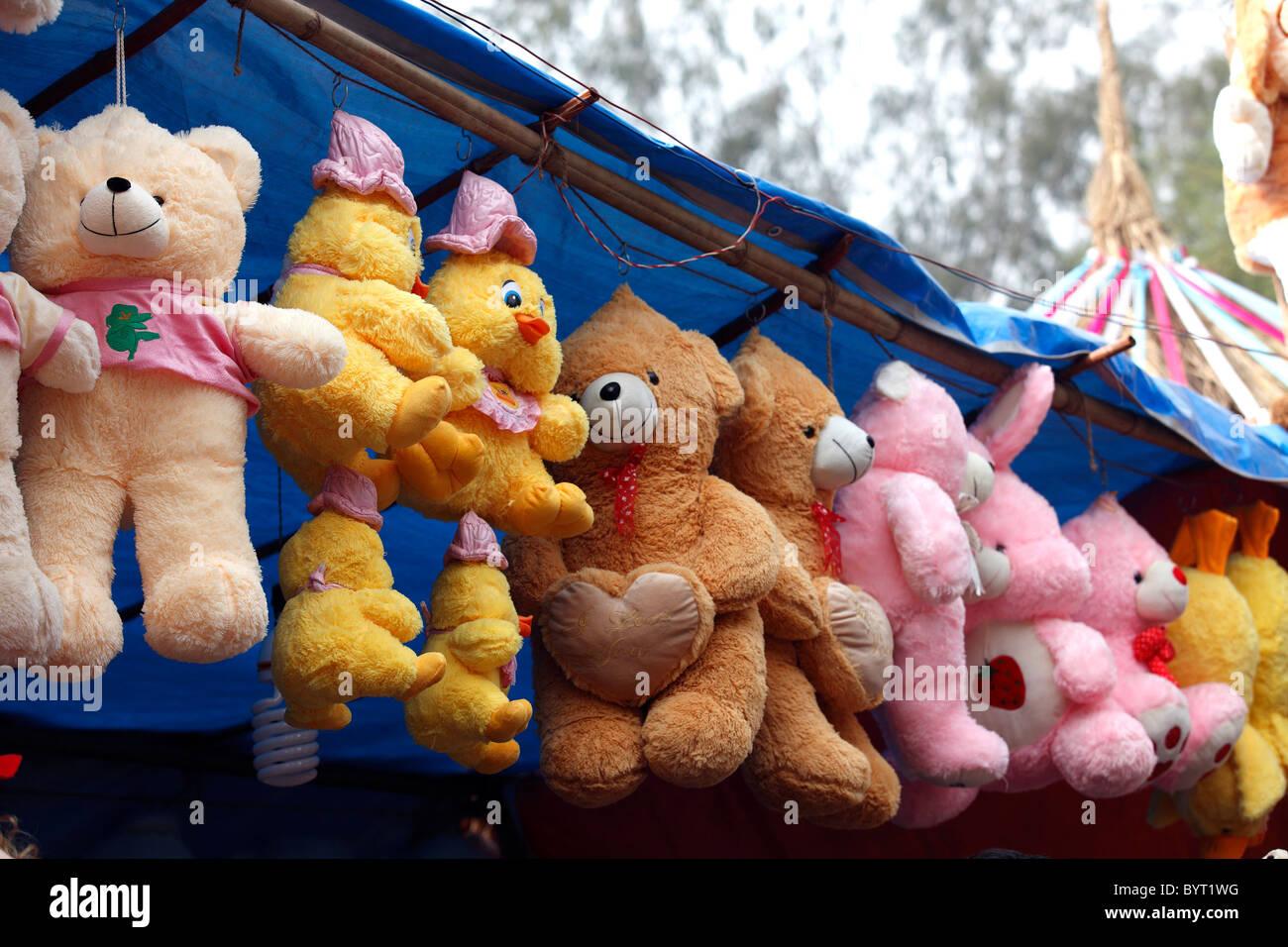 Farcite i peluche display Delhi India shop stallo fornitore di vendita business marketing Immagini Stock