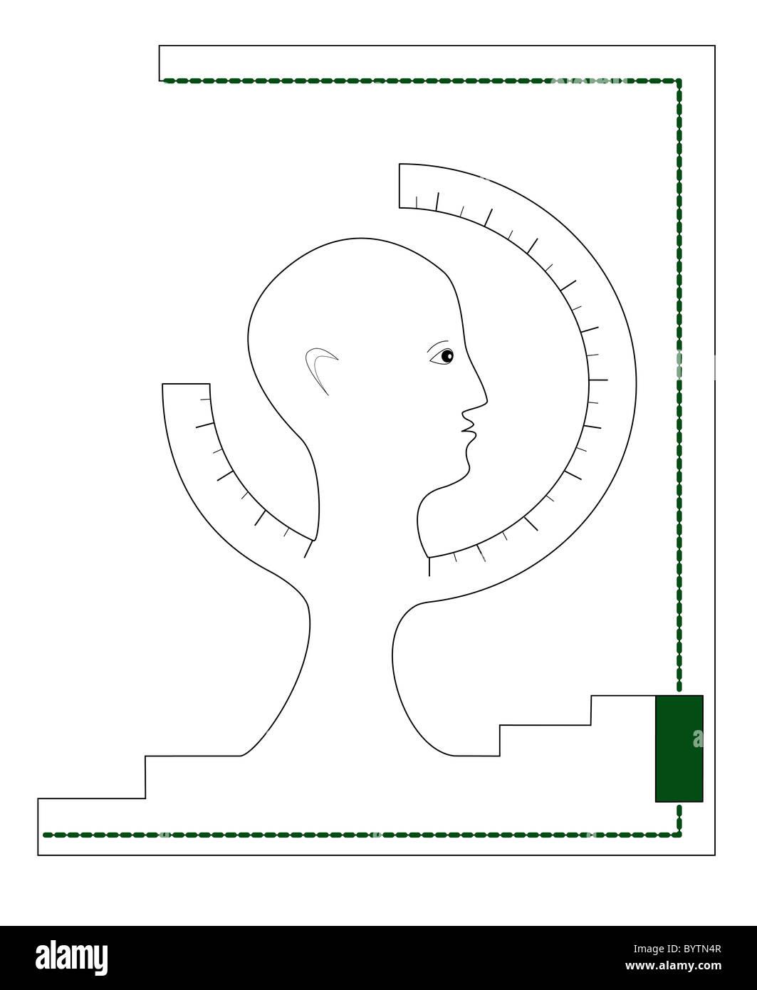 La grafica di comunicazione poster, la copertina del libro Immagini Stock