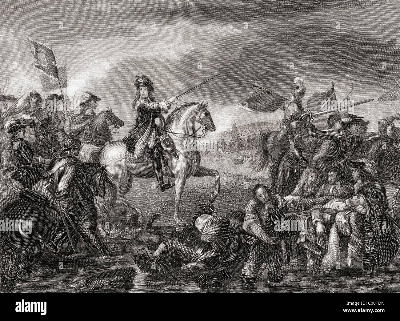 Re Guglielmo III, 1650 - 1702 presso il Centro Visitatori della Battaglia del Boyne, Irlanda nel 1690. Foto Stock