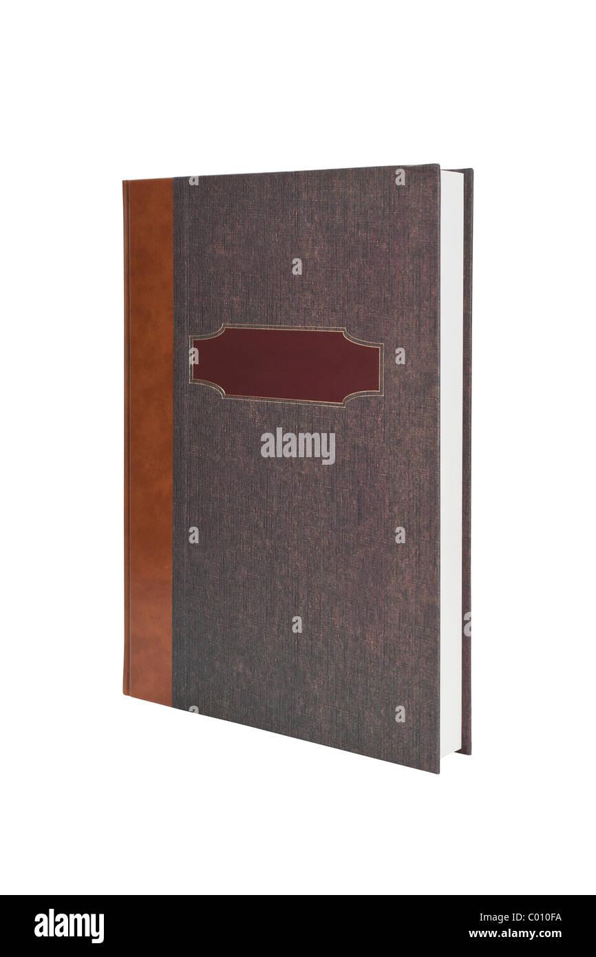 Inserisci il tuo messaggio su questo coperchio annuario Immagini Stock
