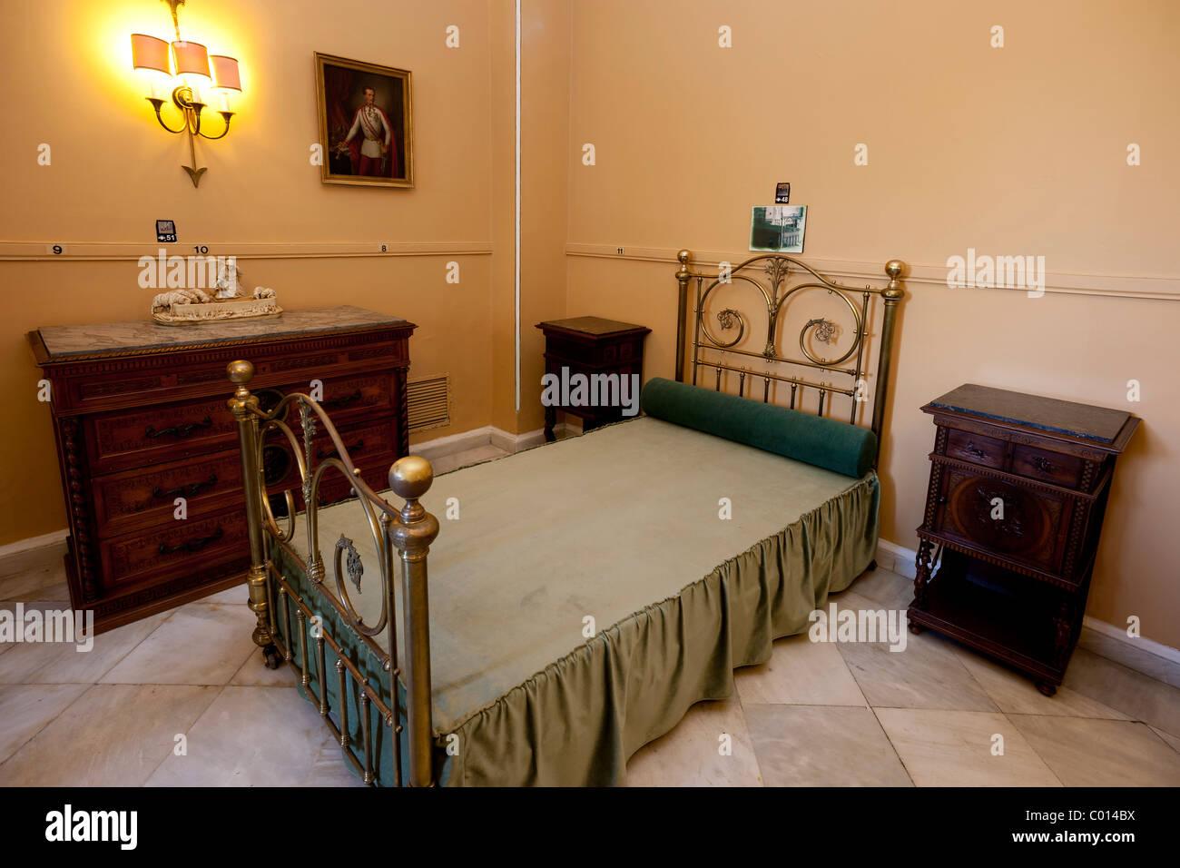 Mobilio originale in Achillion Palace vicino a Gastouri, Est Corfu, Corfu, Isole Ionie, Grecia, Europa meridionale Immagini Stock
