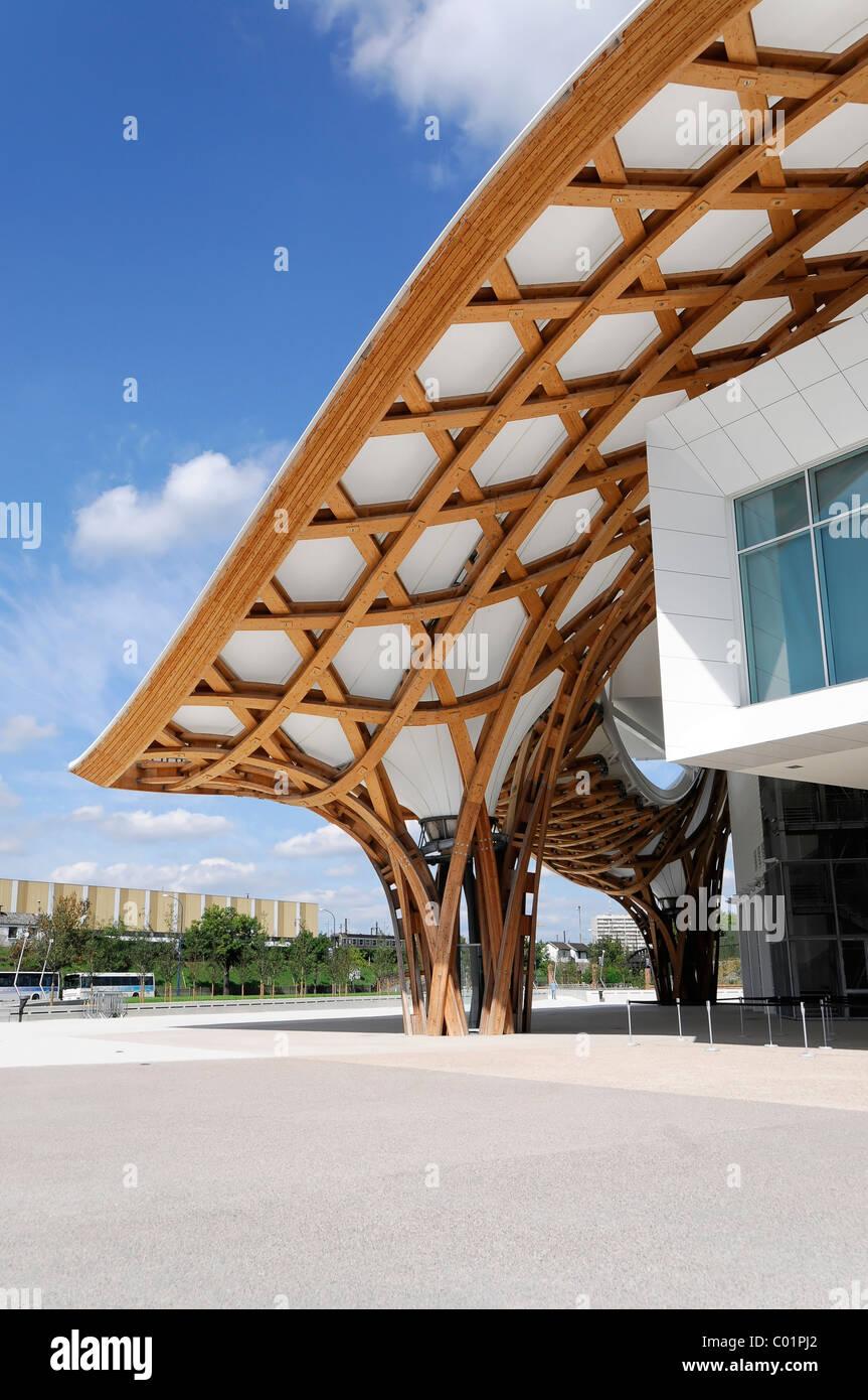 Vista in dettaglio, Centro Pompidou-Metz, Metz, Lorena, Francia, Europa Immagini Stock