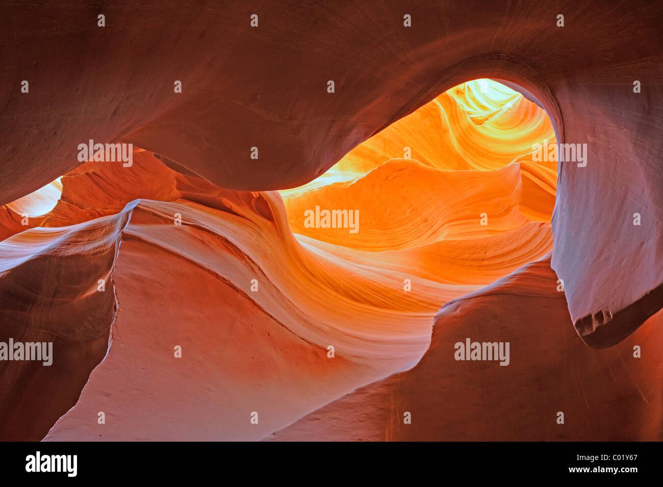Roccia forme, colori e strutture nell'Antelope Canyon Slot, Arizona, Stati Uniti d'America, America Immagini Stock