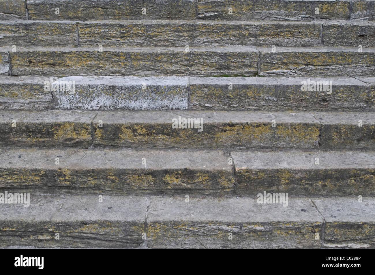 Gradini in pietra, sfondo Immagini Stock