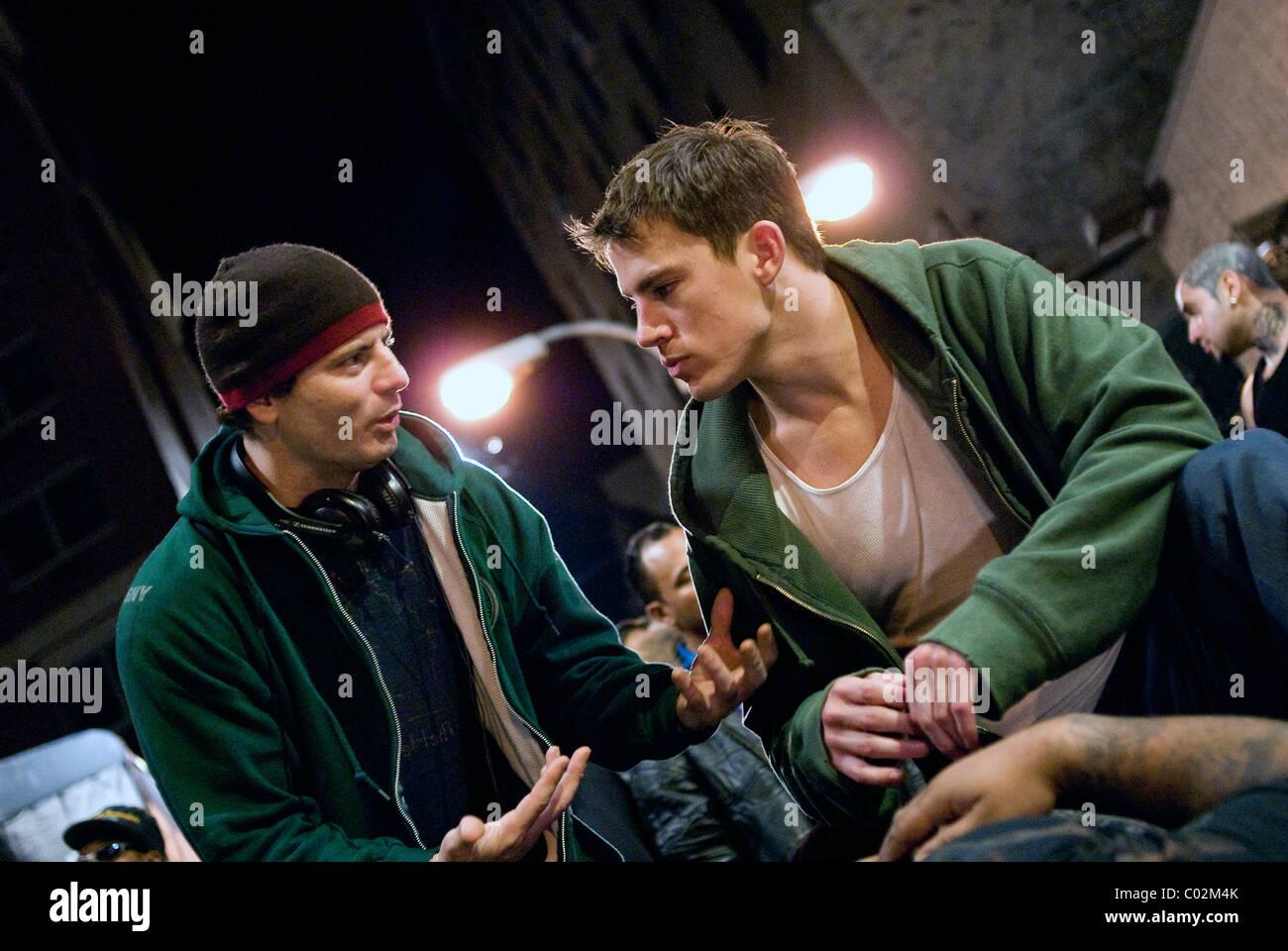 DITO MONTIEL & Channing Tatum combattimenti (2009) Immagini Stock