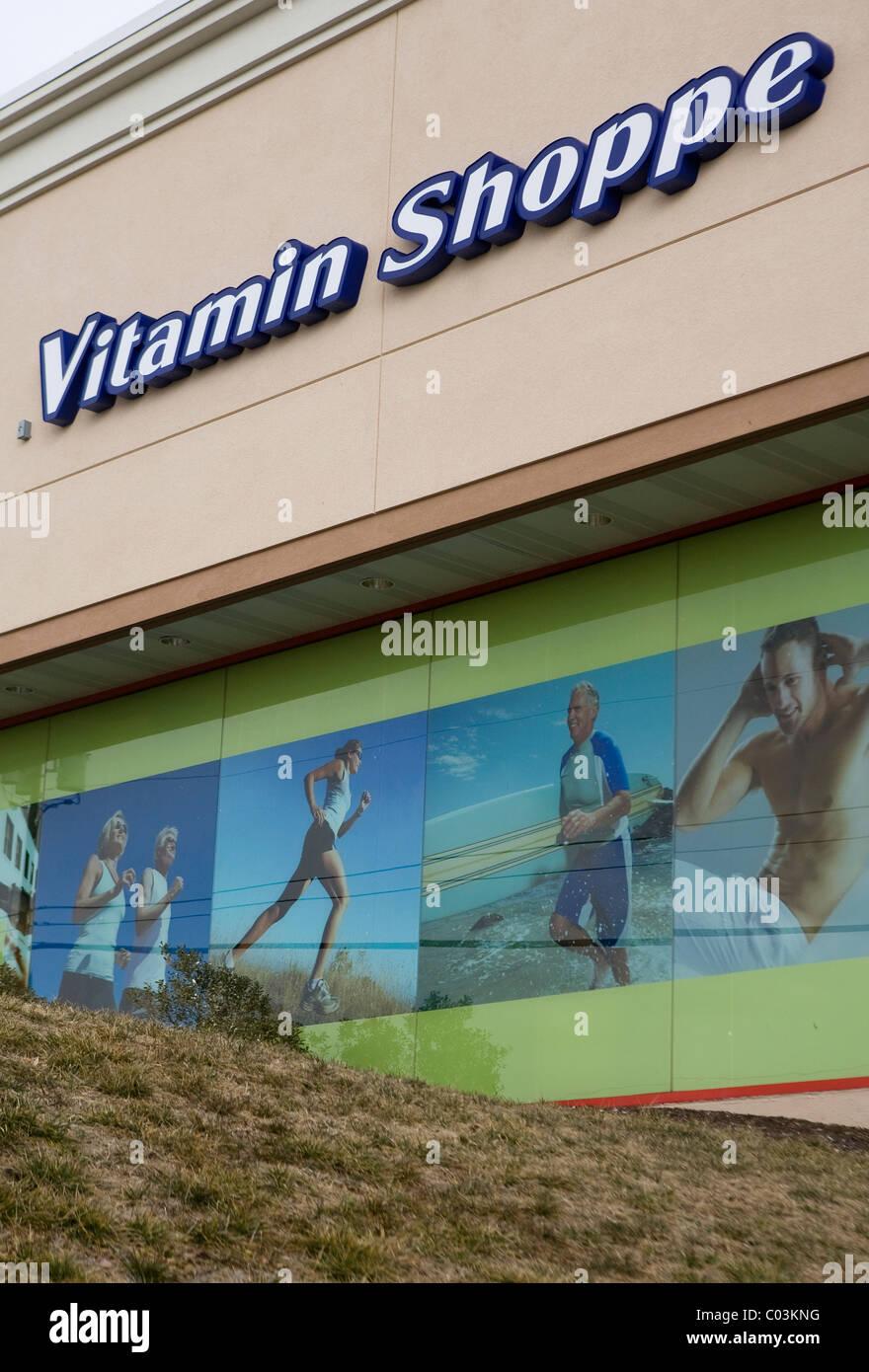 Una vitamina Shoppe store. Immagini Stock