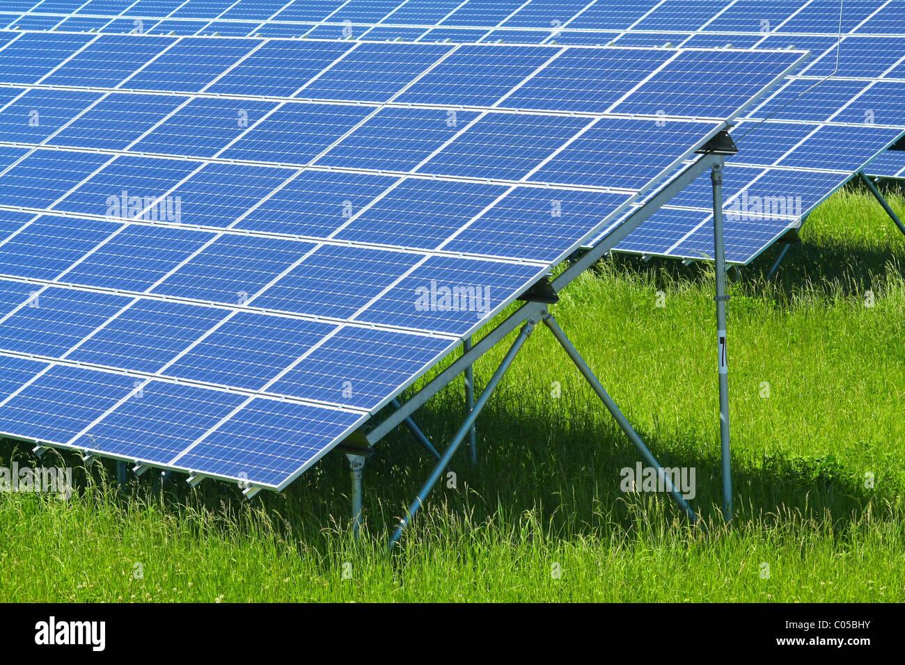 Centrale solare Immagini Stock