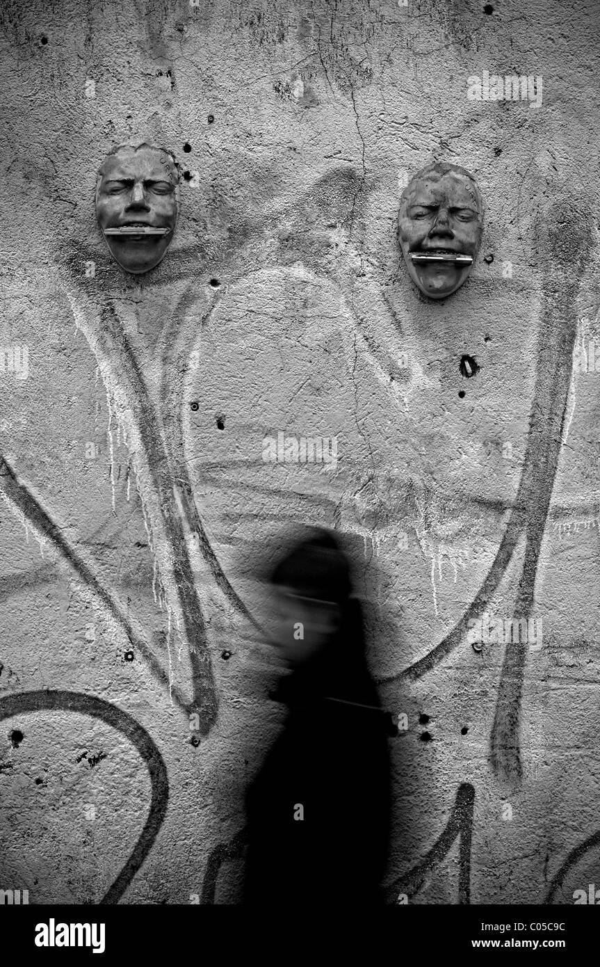 Milano, Italia. Arte di strada Immagini Stock
