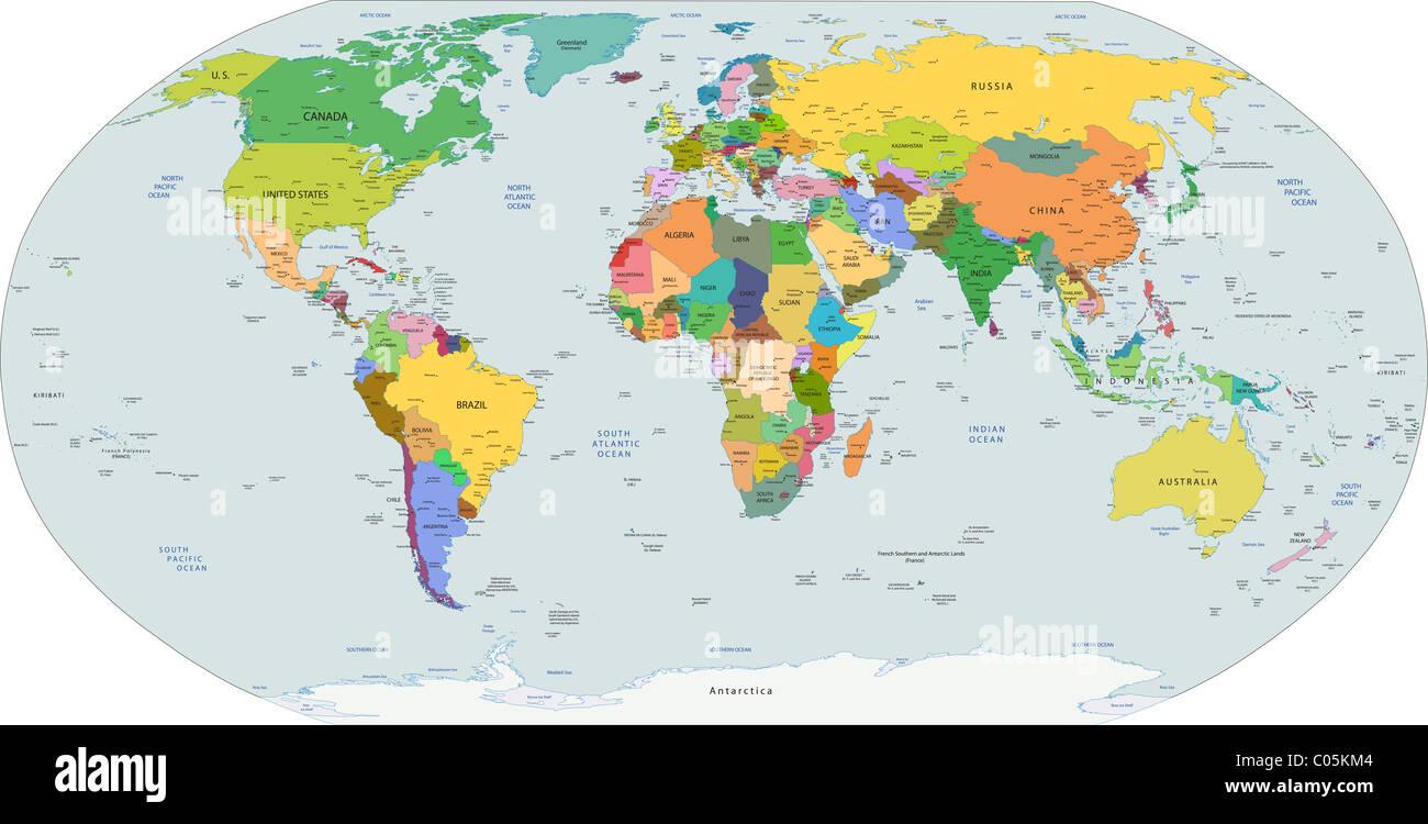 Cartina Del Mondo Politico.Politica Globale Mappa Del Mondo I Capitelli E Le