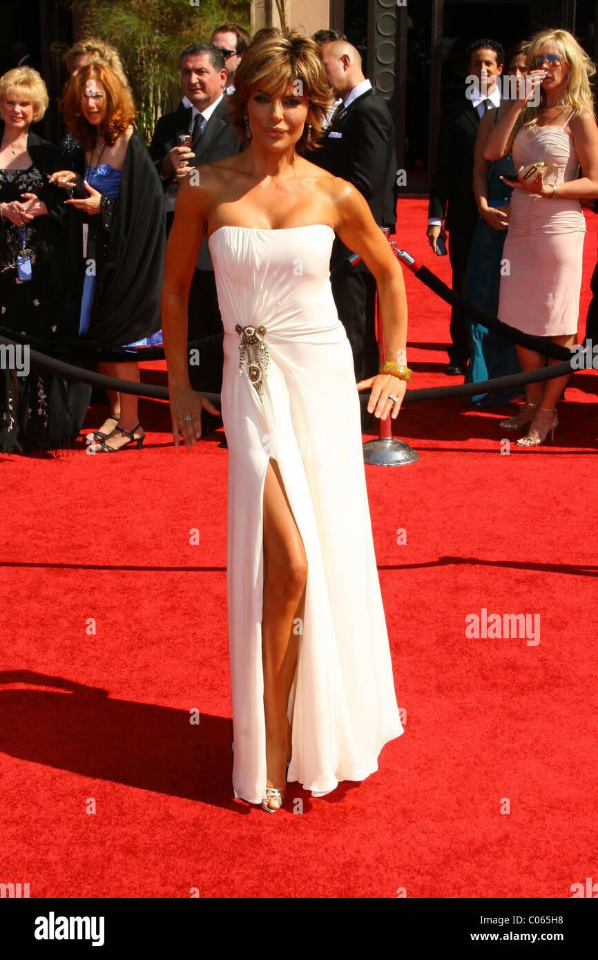 Lisa Renna 59th Primetime Emmy Awards presso lo Shrine Auditorium di Los Angeles, California - 16.09.07 Esp Immagini Stock