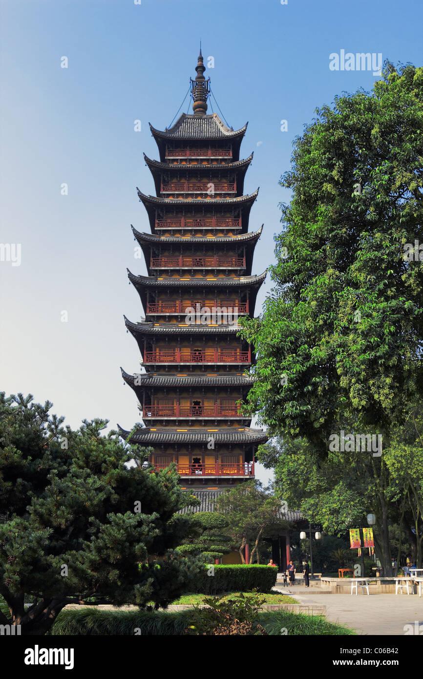 Antica Pagoda Taoista Jiangsu in Cina Immagini Stock