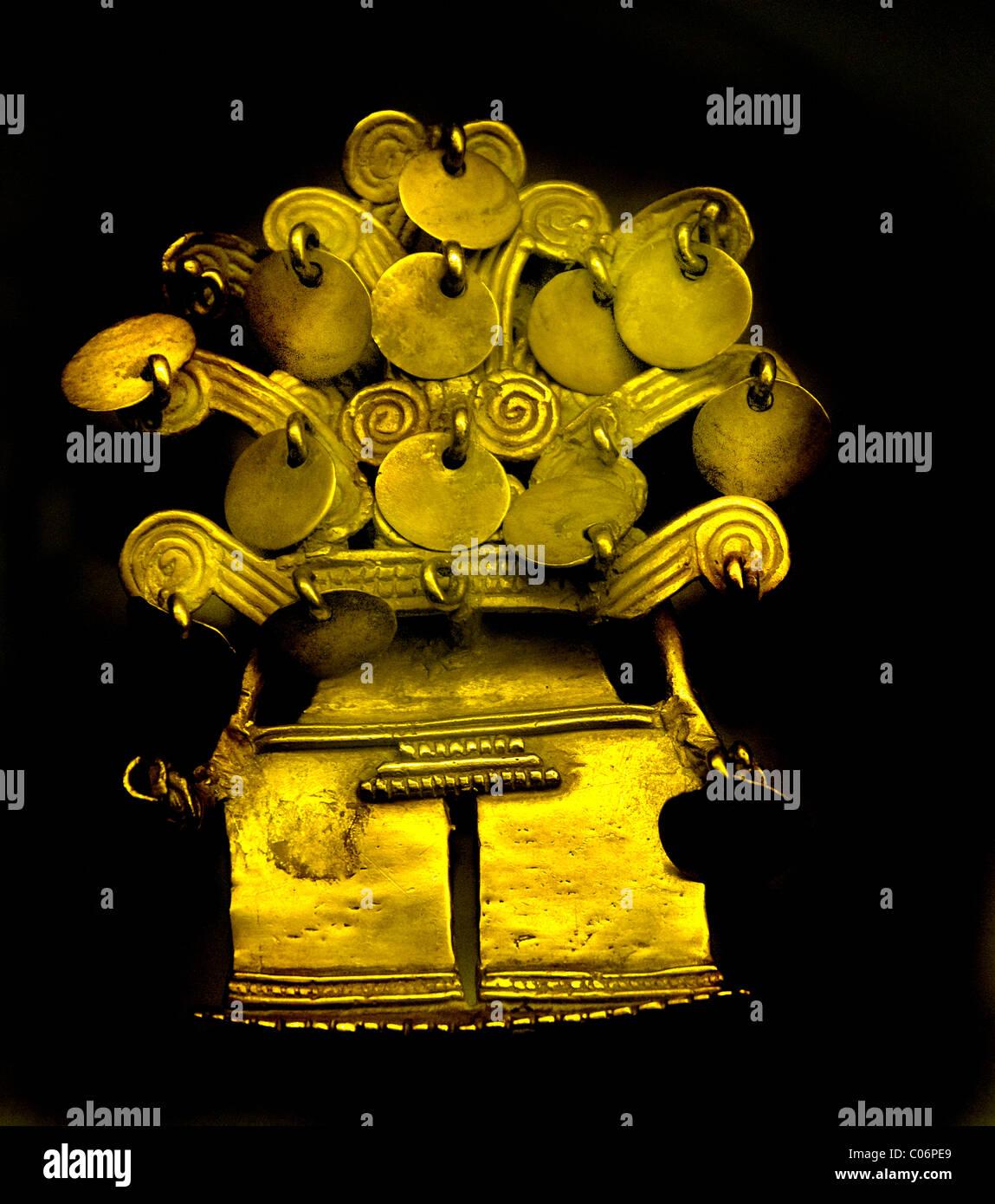 Oro Quimbaya Colombia colombiano 200 mille Panama darien appeso tipo che indica le relazioni commerciali tra questi Immagini Stock