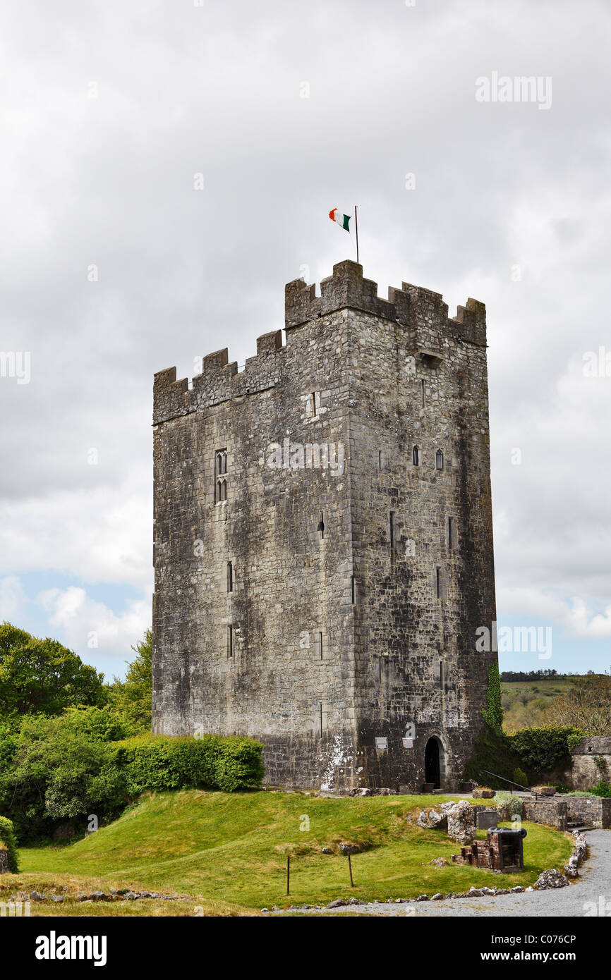 Dysert O'Dea castello vicino Corofin, County Clare, Irlanda, Europa Immagini Stock