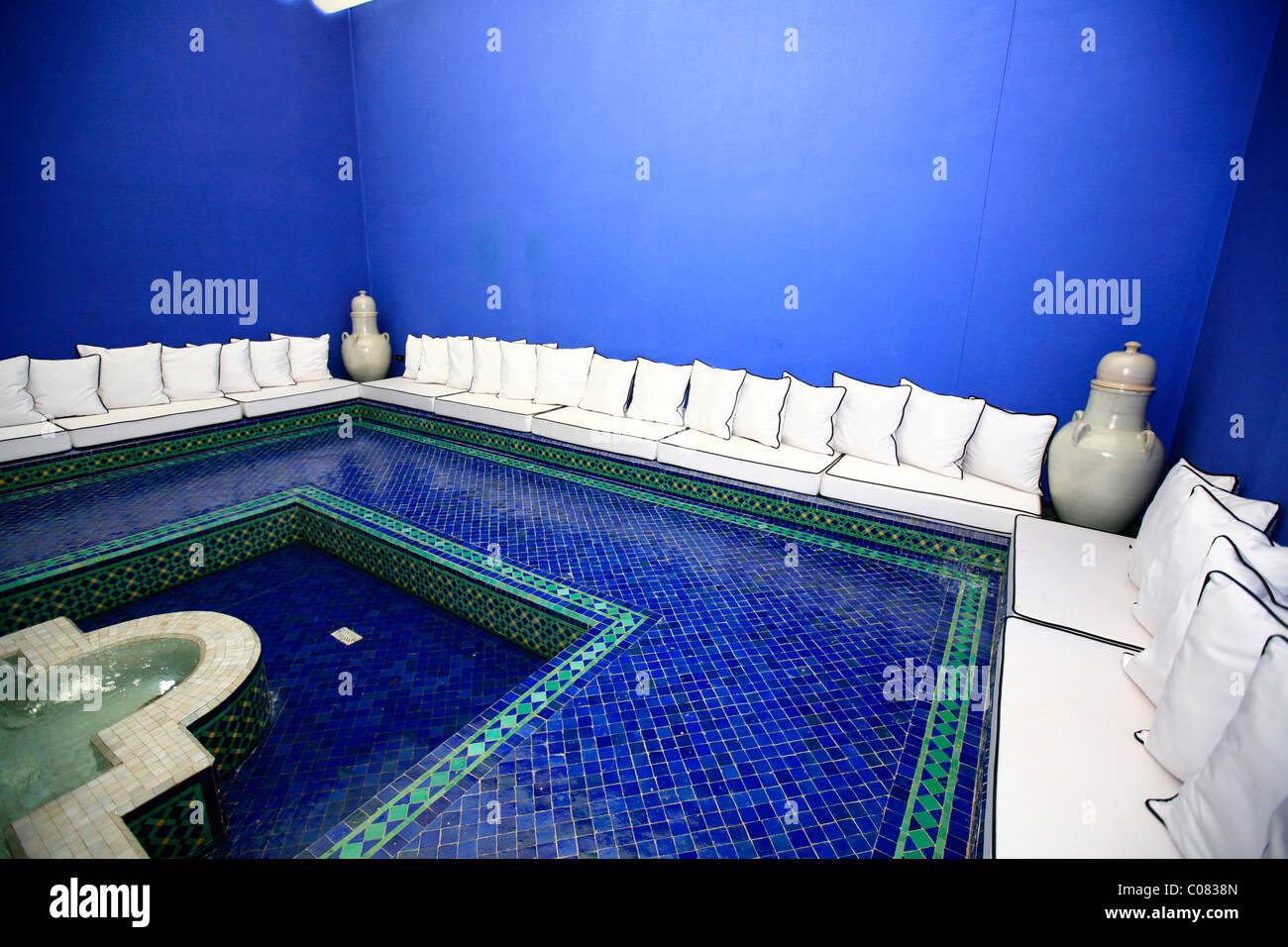 La mamounia hotel di lusso con la sua blue spa e area fitness con