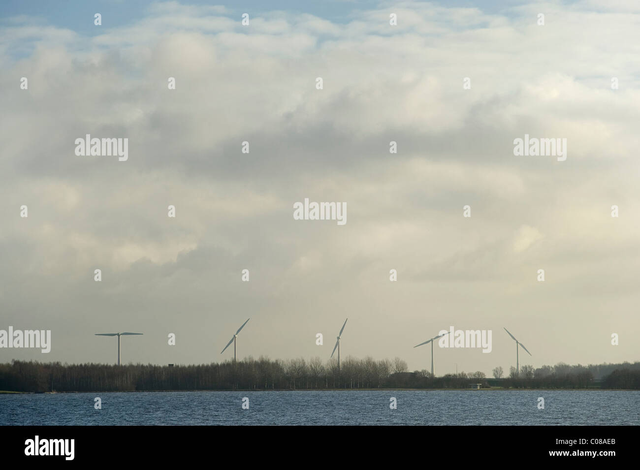 Energia di Vento in Paesi Bassi Immagini Stock