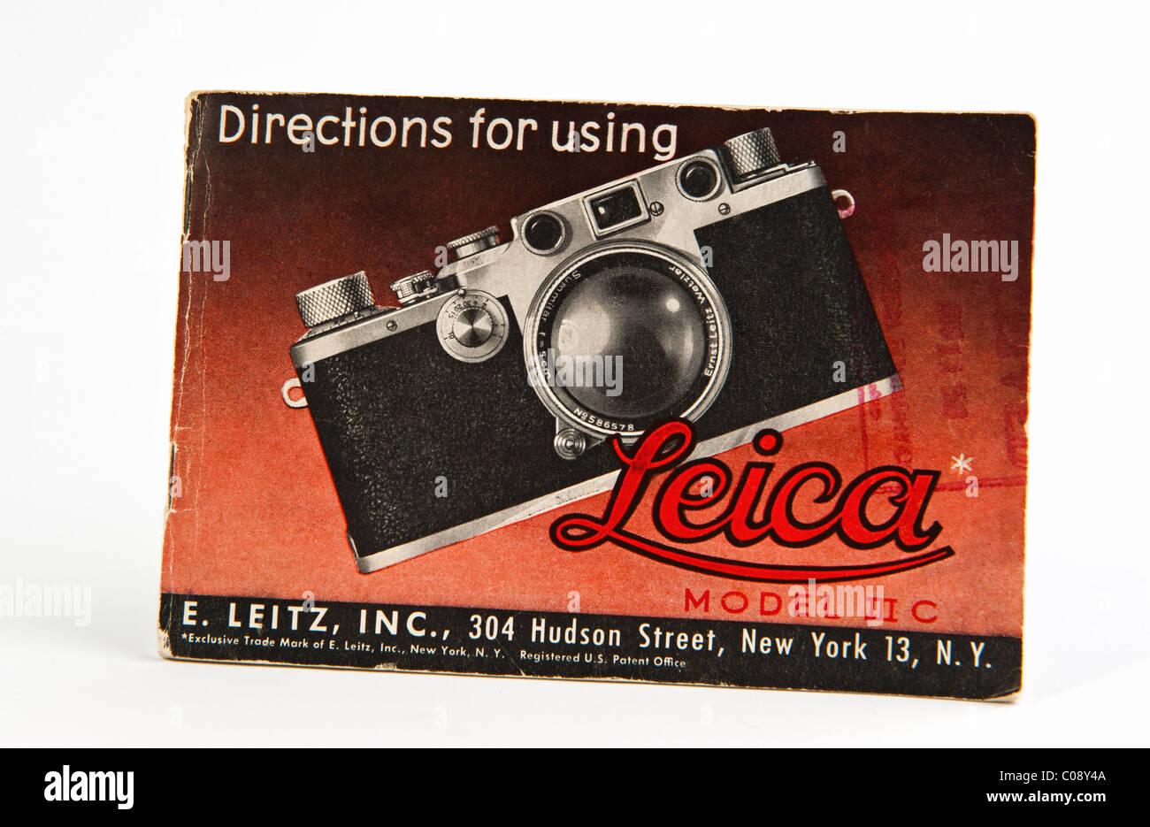 Leica camera Modello 3 III C manuale di istruzioni Immagini Stock
