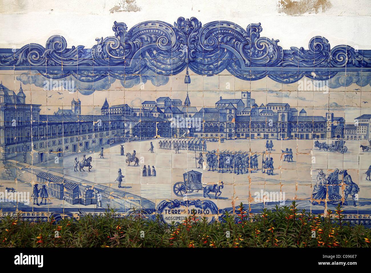 Prima di lisbona il terremoto del 1755 murale presso la chiesa di