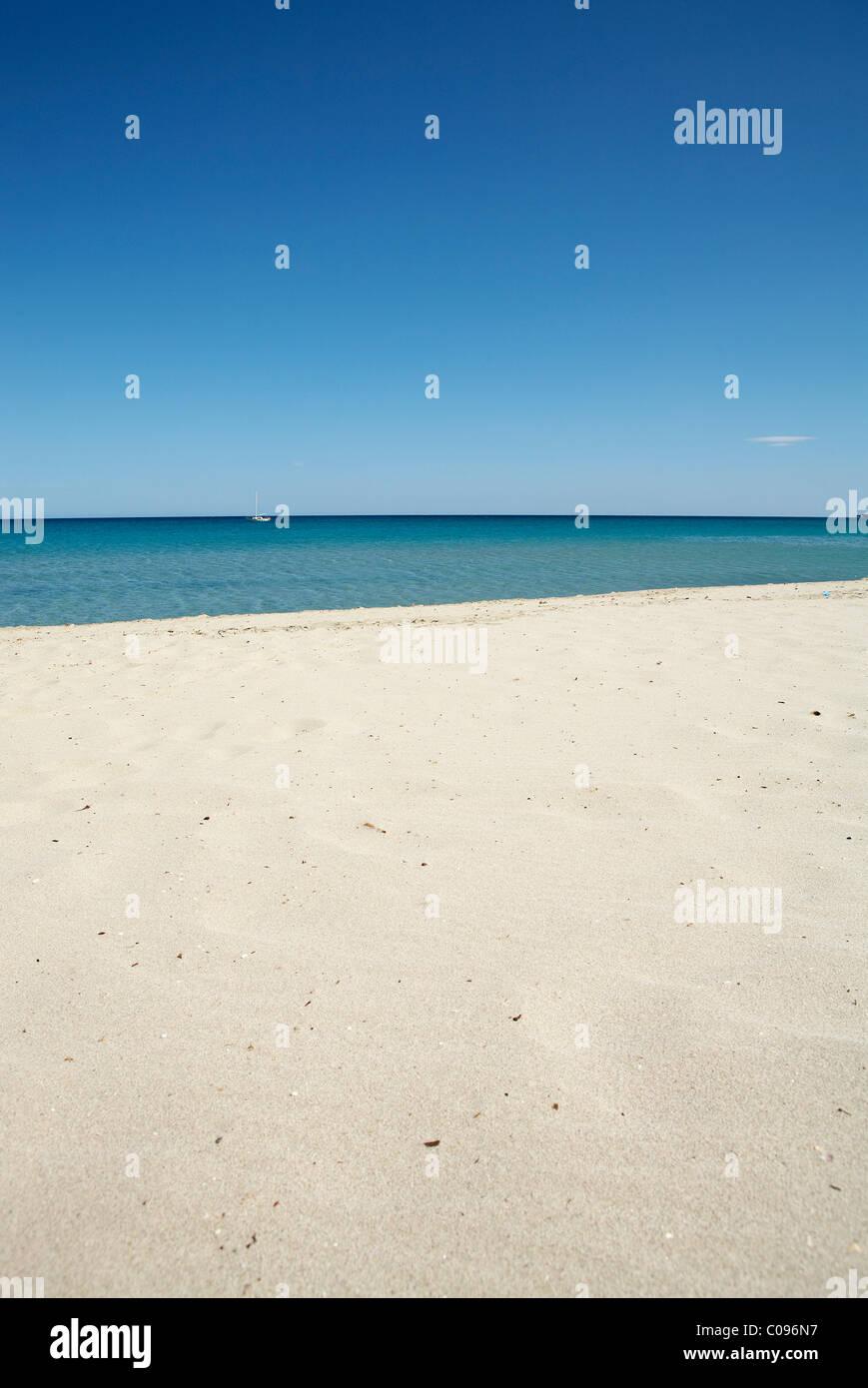 Spiaggia, orizzonte Immagini Stock