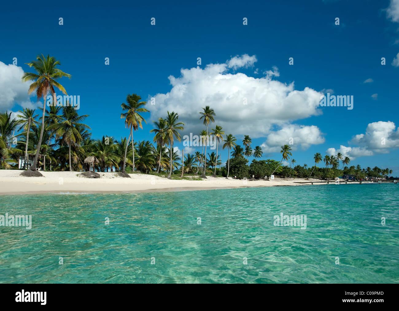Spiaggia di Bayahibe, Repubblica Dominicana Immagini Stock