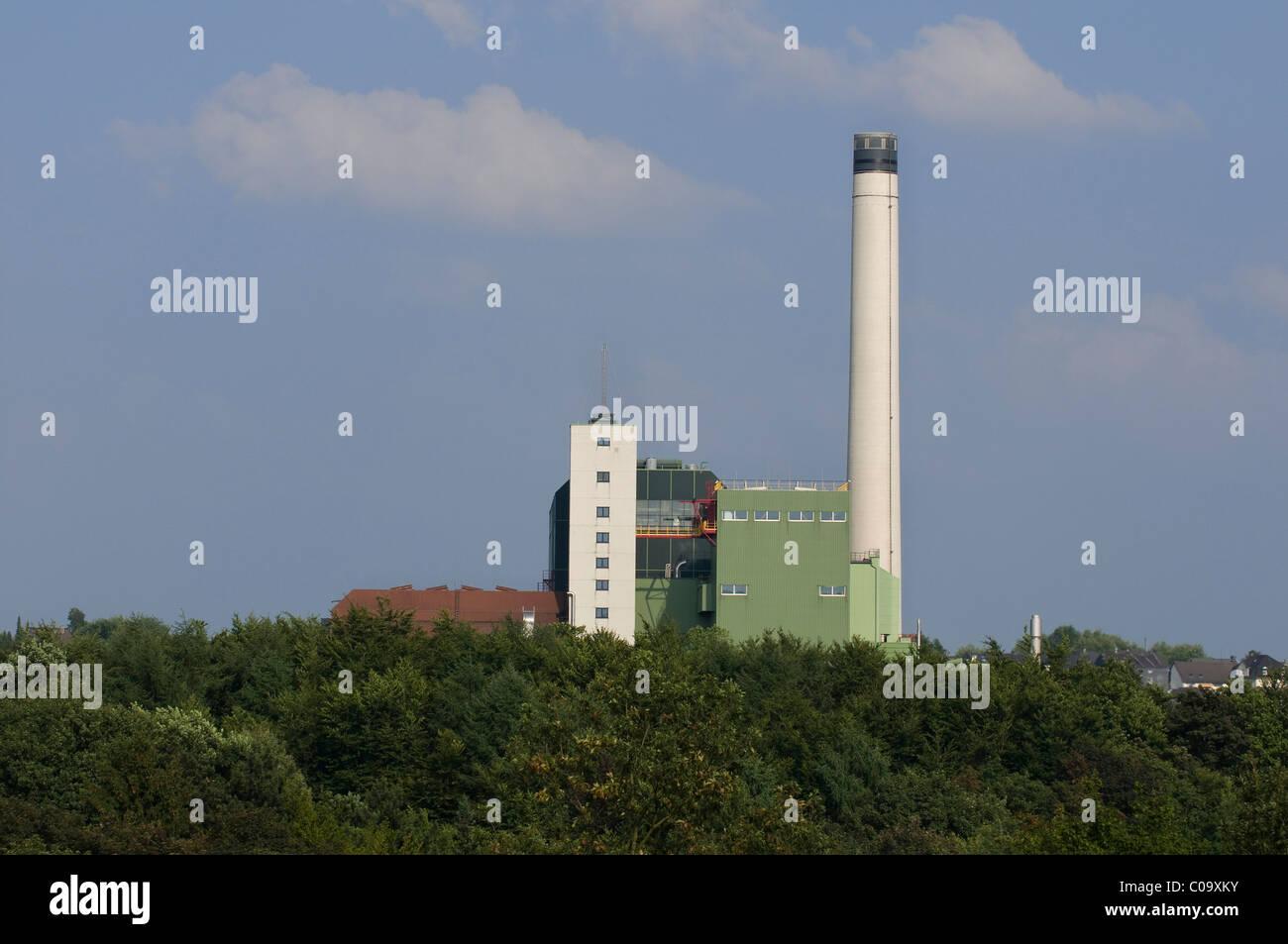 Impianto di incenerimento dei rifiuti del mbH Wuppertal rifiuti della società di gestione, della Renania settentrionale Immagini Stock