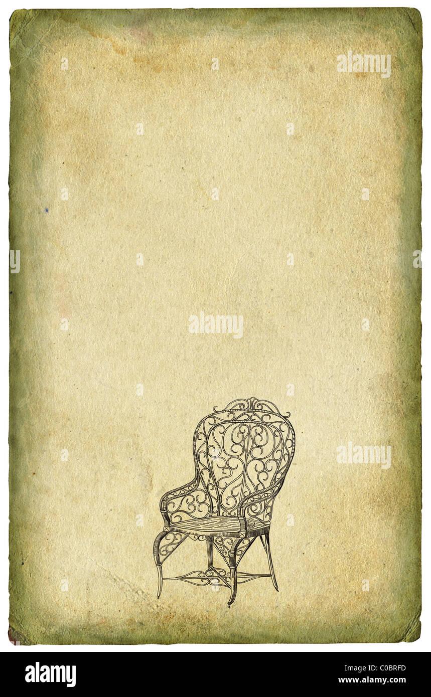 Vecchia sedia illustrazione Immagini Stock