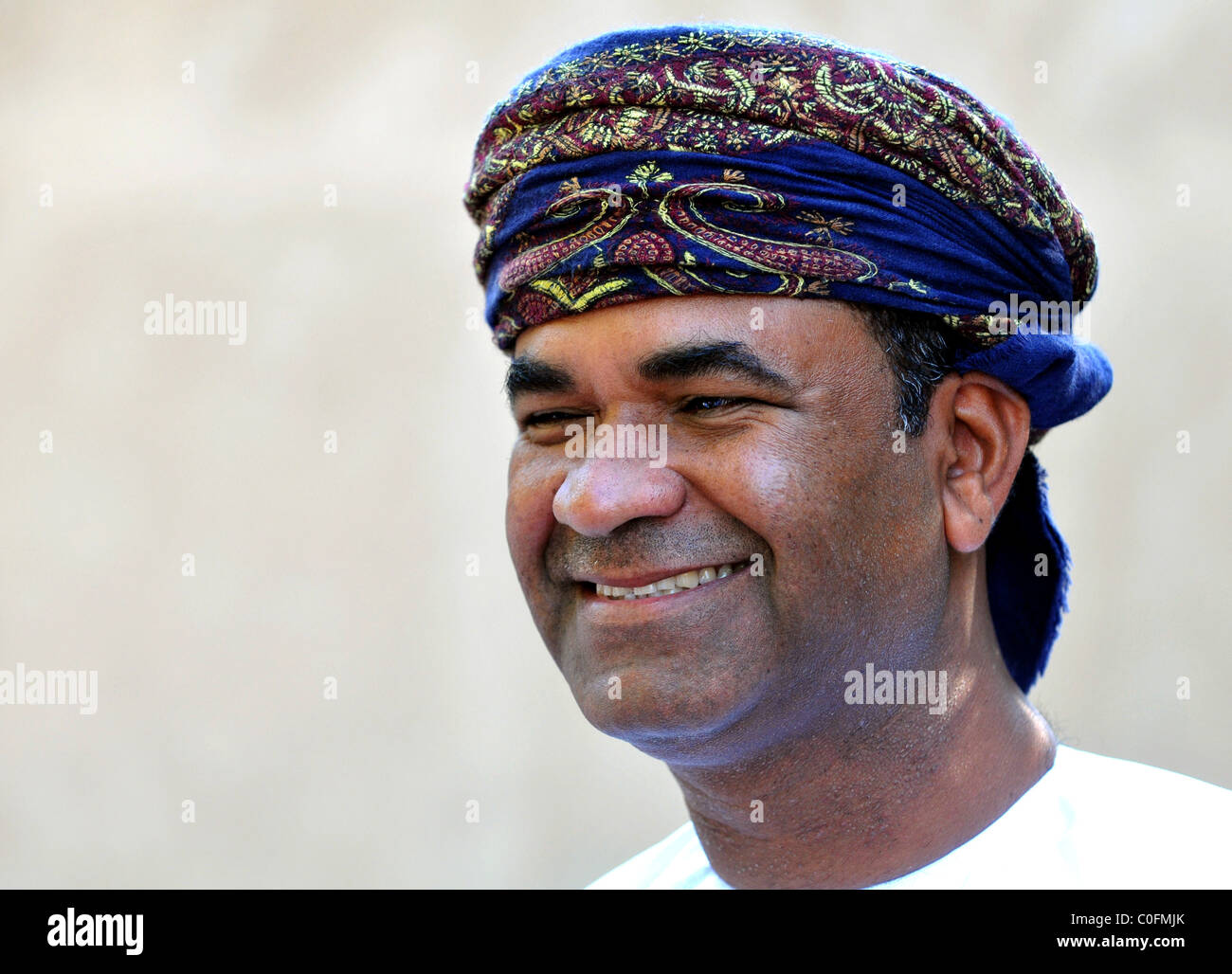 Uomo locale. Il Sultanato di Oman. Immagini Stock